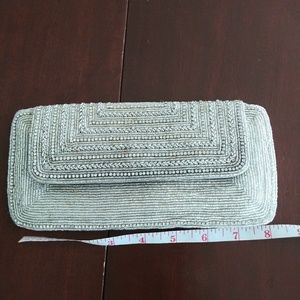 Handbags - Metallic Beaded Clutch